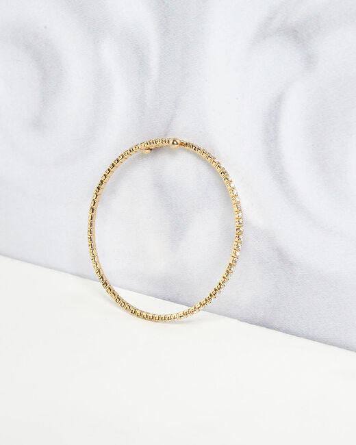 Bracelet brillant doré Olympe (1) - 1-2-3