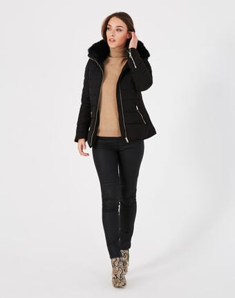 Laure short black puffer jacket black.