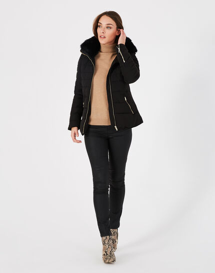 Laure short black puffer jacket (1) - 1-2-3