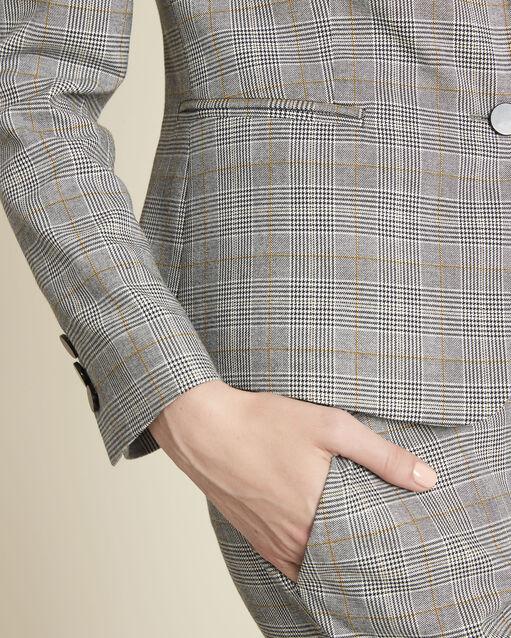 Veste grise motif Prince de Galles Sarry (2) - 1-2-3