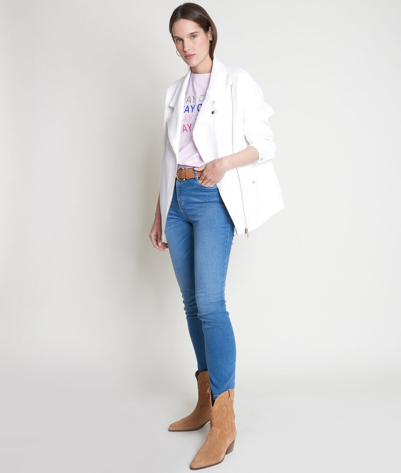 Manteau style perfecto en coton blanc Janna PhotoZ | 1-2-3