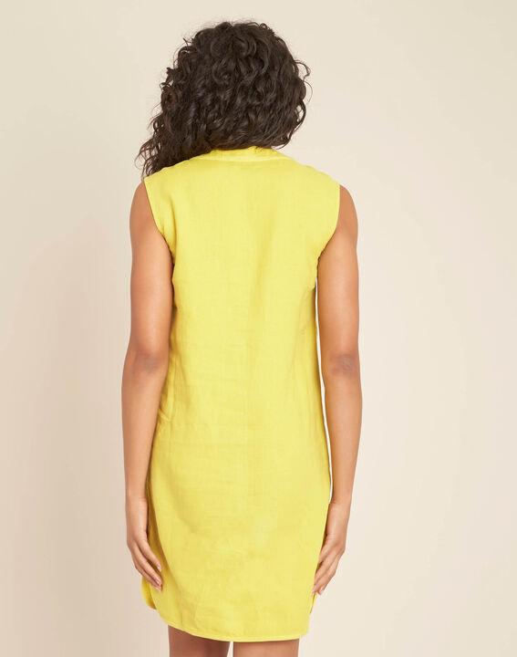 Robe jaune en lin Pim (4) - 1-2-3