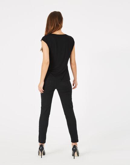 Pantalon 7/8ème noir satin Pia (3) - 1-2-3