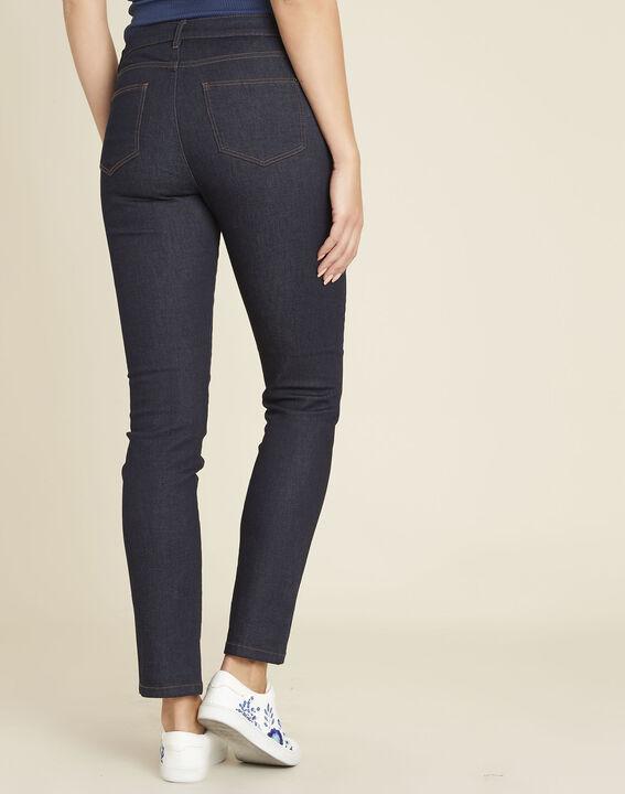 Rechte, onbewerkte jeans met geborduurde zakken Vivienne (4) - 37653