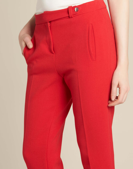 Pantalon rouge de tailleur slim Lara PhotoZ | 1-2-3