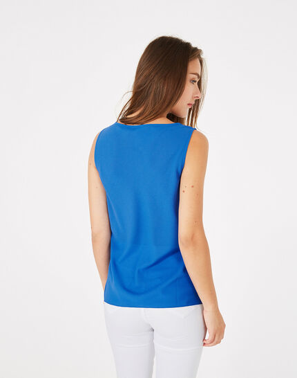 Daisy royal blue top with cowl neckline (4) - 1-2-3
