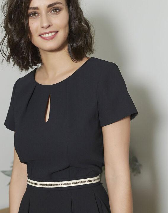 Natalia Straight Black Dress (3) - 1-2-3