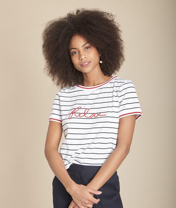 Tee-shirt rayé à message Cabourg PhotoZ | 1-2-3