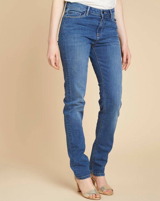 Vivienne straight-cut fitted indigo jeans (2) - 1-2-3