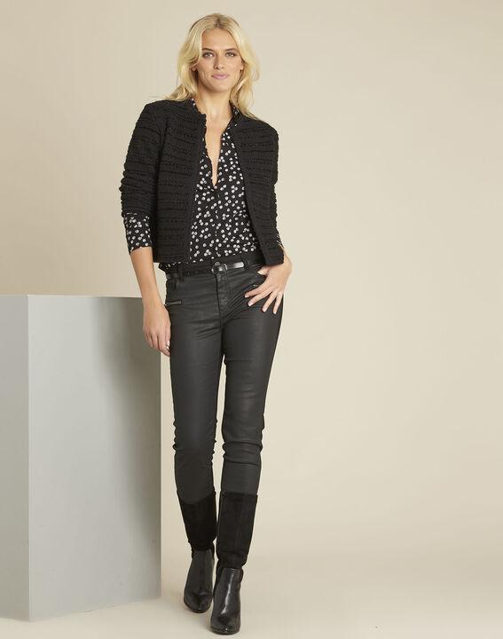 Garose black printed blouse (2) - Maison 123