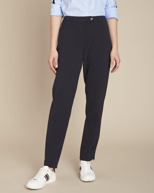 Pantalon de tailleur marine à pinces Valero (1) - 1-2-3
