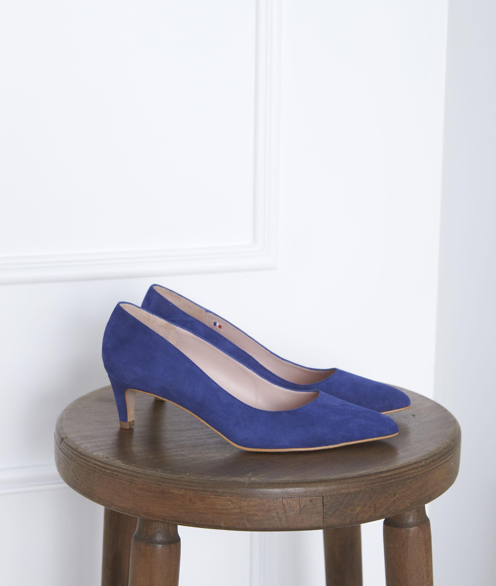 Ziegenveloursleder Blaue Pumps Blaue aus Lili PuTkOwXZi