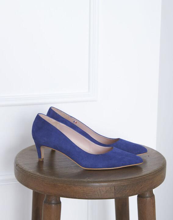 Blaue Pumps aus Ziegenveloursleder Lili (1) - Maison 123