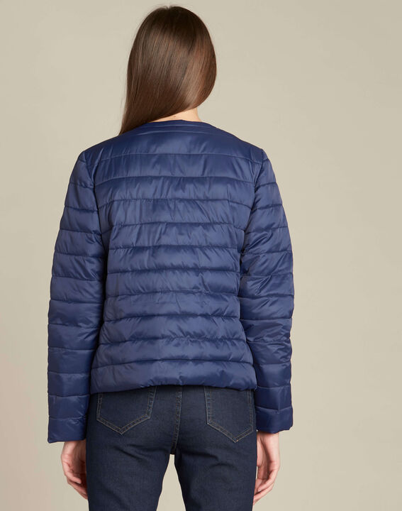 Yvana navy blue fine quilted jacket (4) - 1-2-3