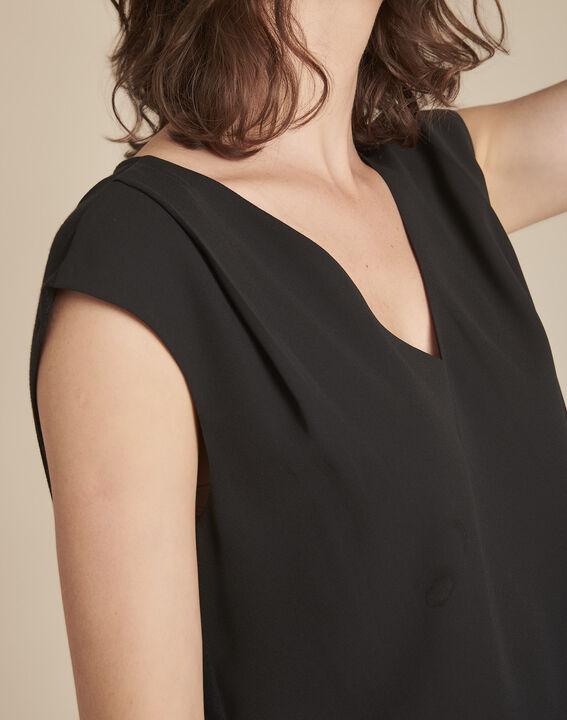 Zwarte blouse met V-hals Neptune (2) - 37653