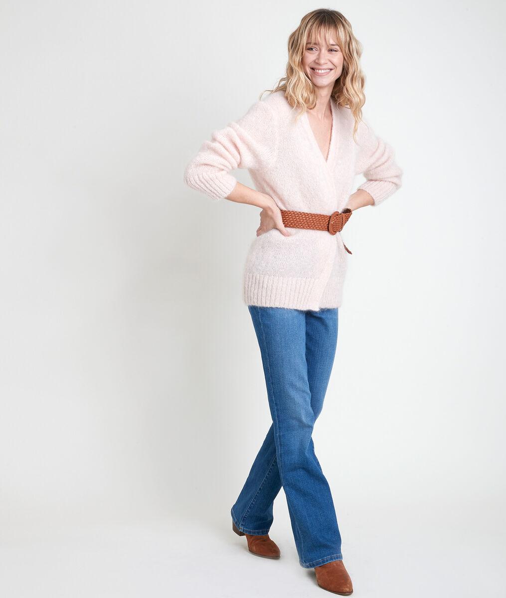 Poederkleurig jasje van gemengd mohair Rozelle PhotoZ | 1-2-3