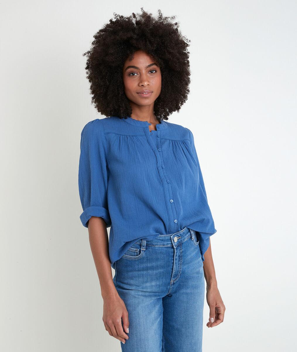Blouse en coton bleu Tobby PhotoZ | 1-2-3