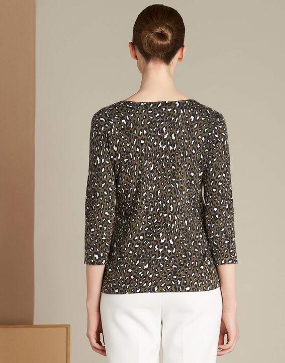 Nairobi animal print khaki sweater (4) - 1-2-3