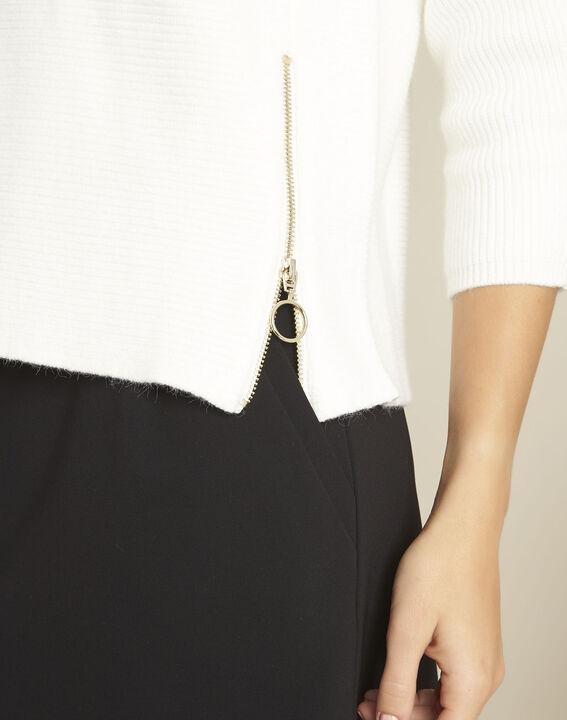 Boris ecru ottoman pullover with side zips (3) - 1-2-3