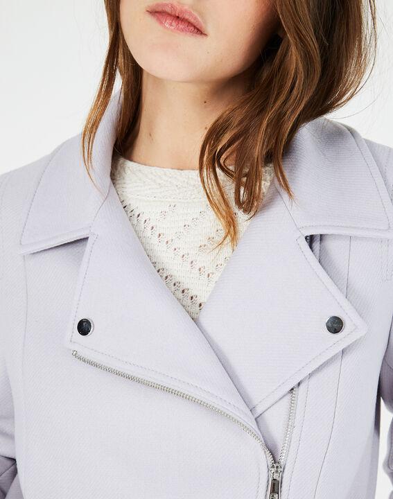 Manteau gris perle en laine mélangée Oryanne (4) - 1-2-3