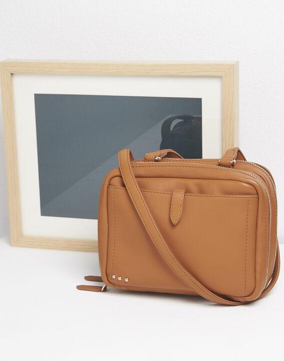 Sac bandoulière zips dorés marron Dolly PhotoZ | 1-2-3