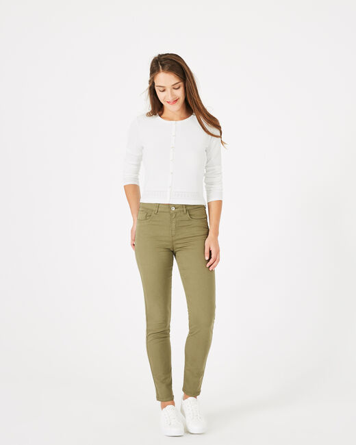 Oliver khaki 7/8 length trousers (1) - 1-2-3