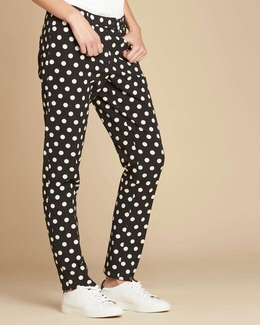 Valero polka dot tapered trousers (2) - 1-2-3