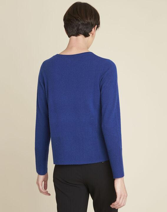 Donkerblauwe trui van kasjmier met zakken Brume (4) - 37653