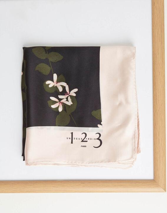 Seidenhalstuch mit Blumenprint Aglae (2) - 1-2-3