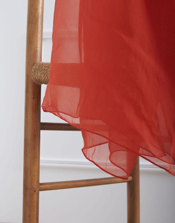 Foulard rouge en soie Alice (2) - Maison 123