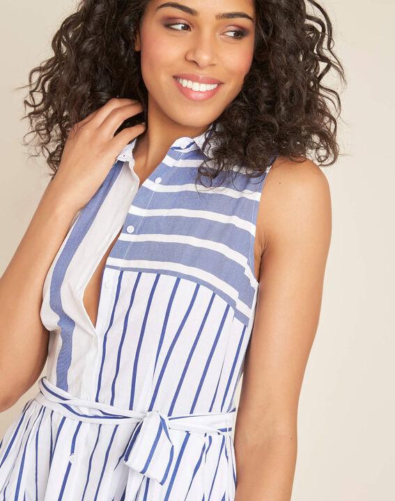 Polka striped blue dress PhotoZ | 1-2-3