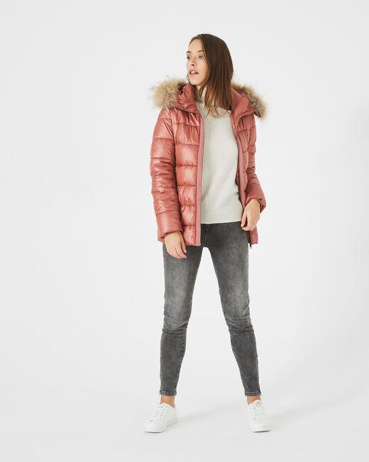 Lena short, old rose puffer jacket (1) - 1-2-3