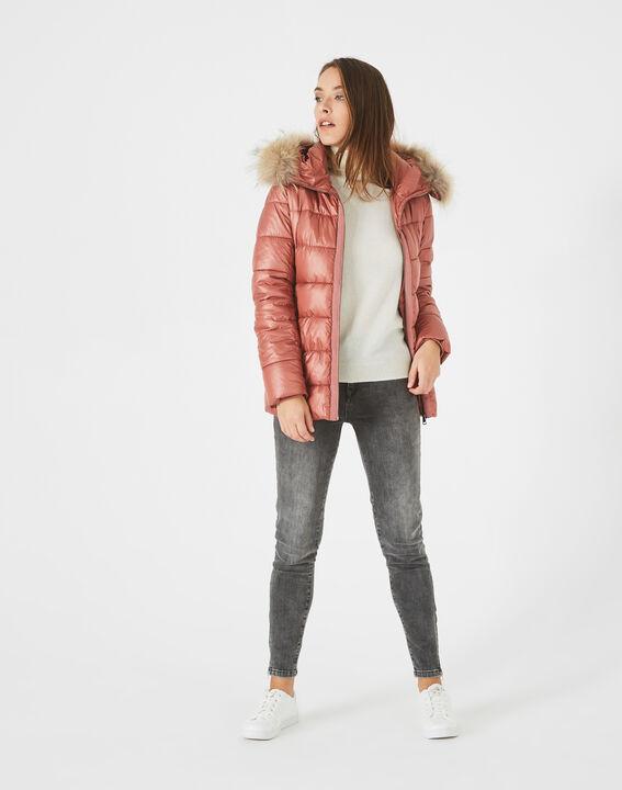 Lena short, old rose puffer jacket PhotoZ | 1-2-3
