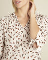 Cynthia nude blouse with feather print (3) - 1-2-3