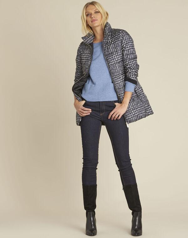 Azuurblauwe trui van kasjmier met zakken Brume (2) - 37653