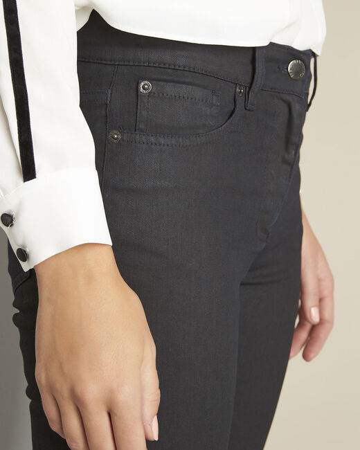 Vivienne navy coated straight-cut jeans (2) - 1-2-3