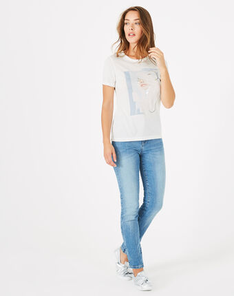 Bouche printed modal t-shirt off white.