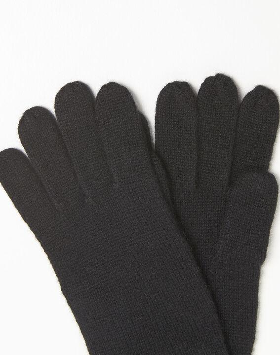 Ustavio black cashmere gloves (2) - 1-2-3