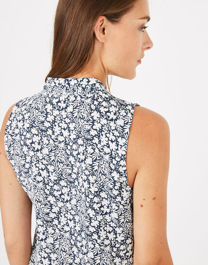 Diana floral sleeveless top (5) - 1-2-3
