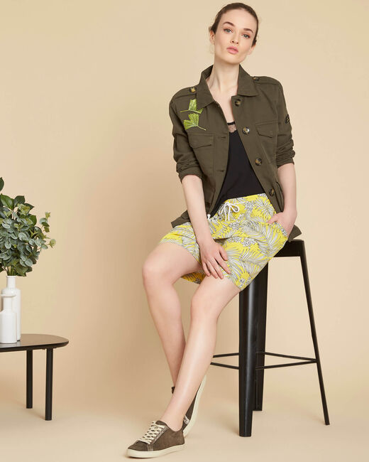 Salma yellow printed shorts (1) - 1-2-3