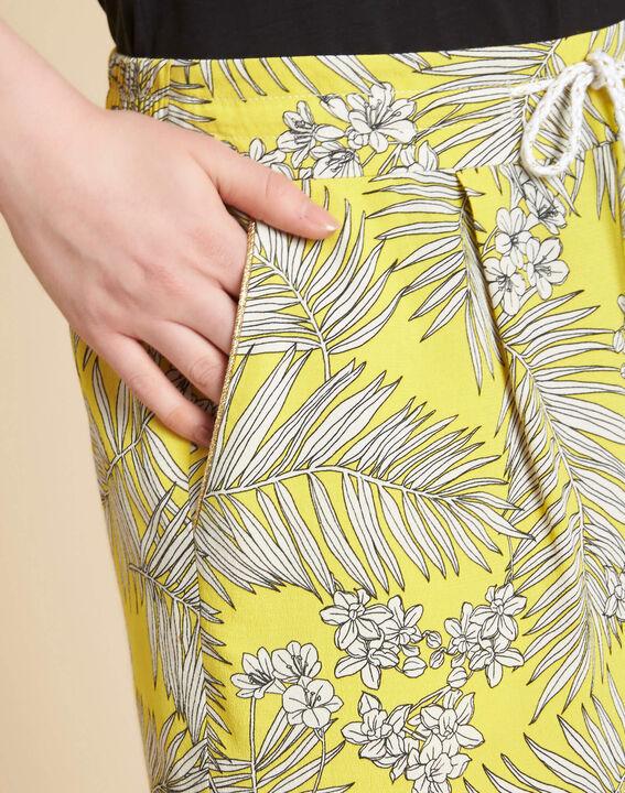 Salma yellow printed shorts PhotoZ | 1-2-3