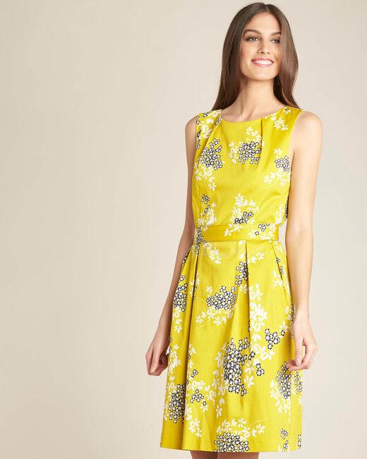 Robe jaune imprimée corolle Irma (2) - 1-2-3