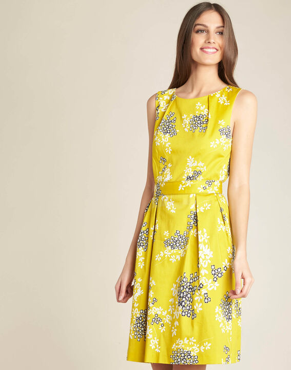 Irma yellow corolla printed dress (3) - 1-2-3