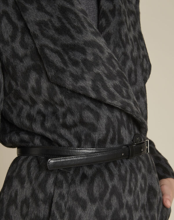 Manteau anthracite ceinture laine Olivier (2) - 1-2-3