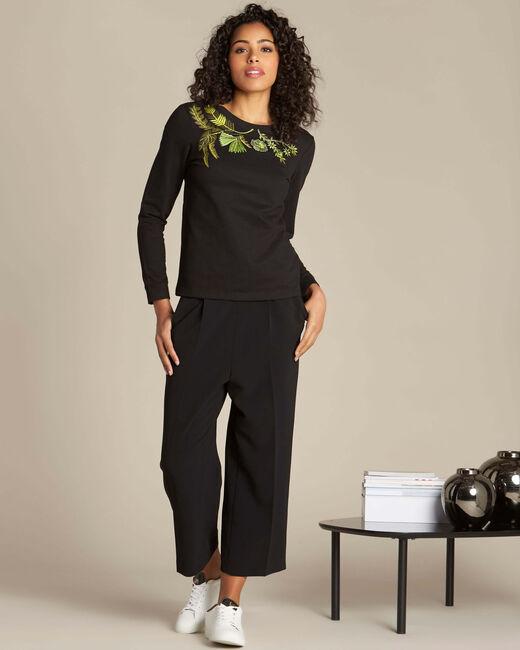 Electron black embroidered sweatshirt (1) - 1-2-3
