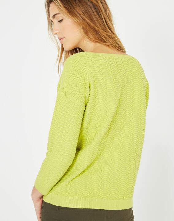 Pop yellow sweater with stunning stitchwork (4) - 1-2-3