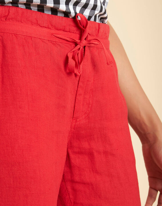 Pantalon rouge en lin Joris PhotoZ | 1-2-3