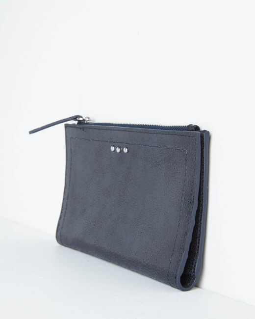 Dita wallet with two leather flaps in black (2) - 1-2-3