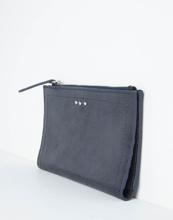 Dita wallet with two leather flaps in black (3) - 1-2-3