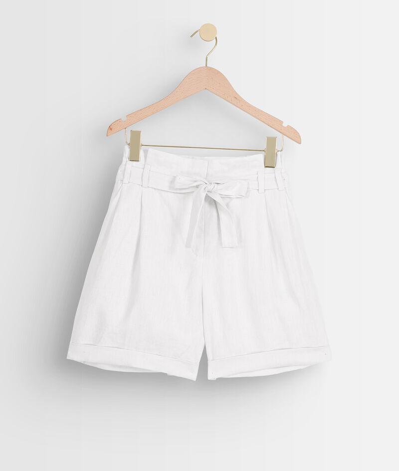 Short en lin certifié blanc Fariel PhotoZ | 1-2-3